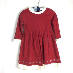Hanna Andersson Christmas Girl Dress Red